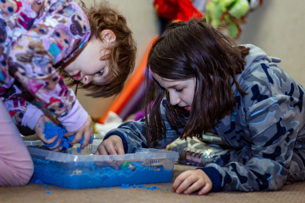Butterfly Beginnings Play Therapy in Davenport, Iowa Kim Feeney Guides Children Through Play Together with SandTray